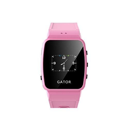 Techsixtyfour - Gator Kids and Seniors Splashproof Smartwatch - GPS and Wi-Fi Tracking - Two-way phone calls Smartwatch with Sim - Wrist Watch for Boys and Girls - UK/EU Sim - Pink