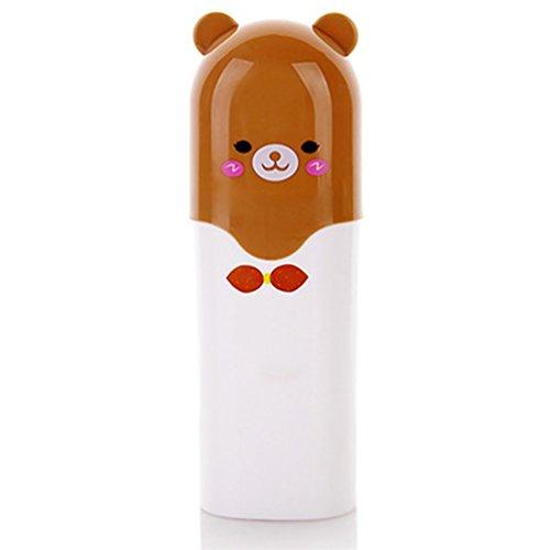 Bismarckbeer Adorable étui de voyage pour brosse à dents Dentifrice étui de rangement Boîte avec couvercle, Plastique, Couleur 1#, Taille unique