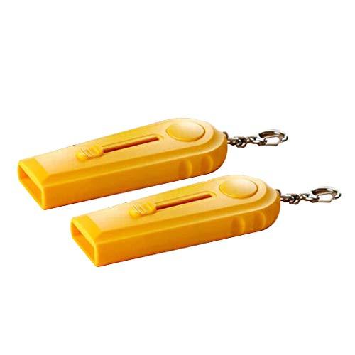 TianranRT❄ Schlüsselanhänger Flaschenöffner,2Pc Bier Flaschenöffner Cap Launcher Top Shooter Schlüsselanhänger Geschenk,Gelb