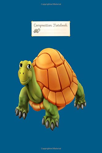 Composition Notebook: 3d turtle - 50 sheets, 100 pages - 6 x 9 inches