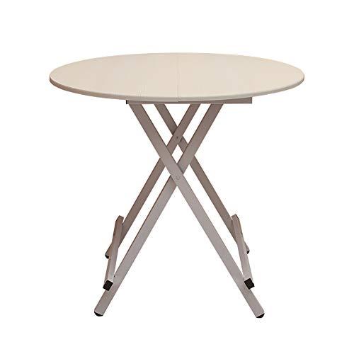YXX Ronde Pliante Cuisine Table à Manger Bureau en Bois 4 Pieds, Accueil Salon Tables Basses Bureaux d'ordinateur (Couleur : #2, Taille : 80x80x55cm)