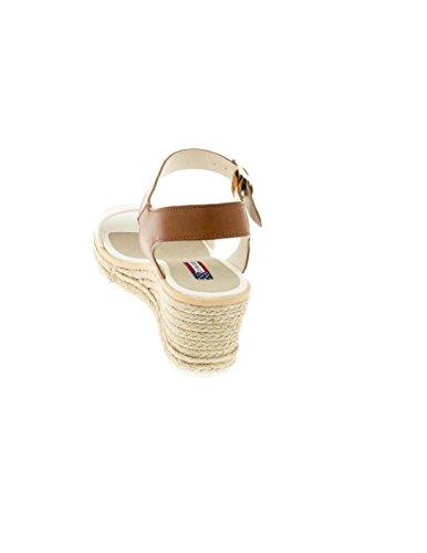 U.S. POLO ASSN. Sandalo con zeppa NIVA PE 2017 Bianco