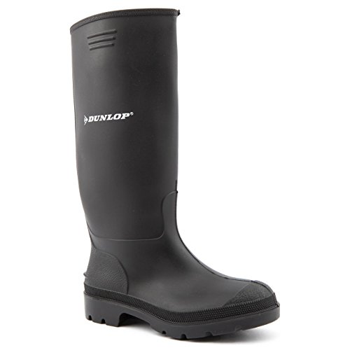 Ladies Dunlop Pricemaster Black Wellington Boots Size 6