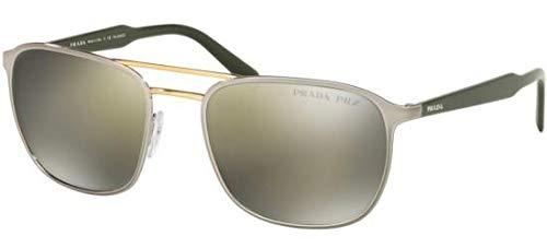 Ray-Ban Herren 0PR 75VS Sonnenbrille, Schwarz (Top Mt Gunmetal On Pale Gold), 56.0
