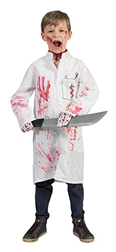 Funny Fashion Doktor Death Kostüm für Kinder Gr. 128 (Kettensägen Massaker Kostüm)