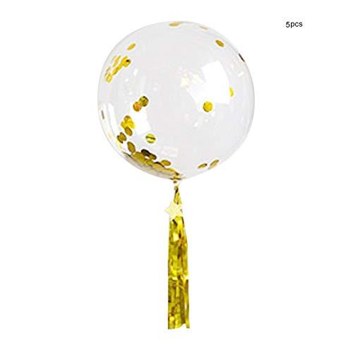 lon-Bunte Ballon-helle klare Verzierung für Hochzeits-Geburtstagsfeier-Weihnachtsfest-Stab-Förderungs-Dekor(5#) ()
