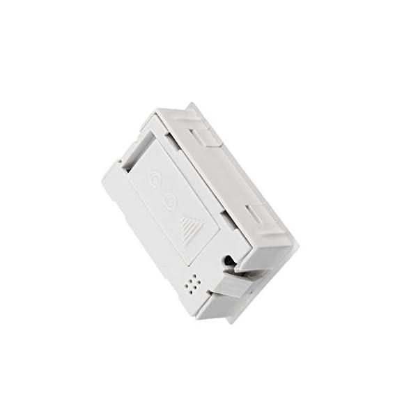 RoadRoma Mini LCD Digital termómetro higrómetro medidor de Temperatura de Humedad Interior (Blanco) 3