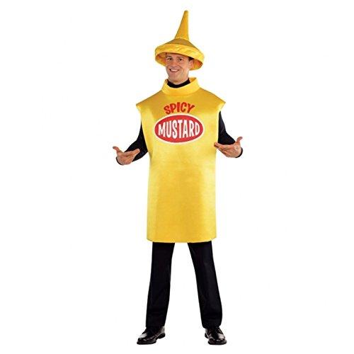 Senf Outfit gelb sauce Gewürz Karitas Dumm Lustiges Kostüm Standardgröße Damen Herren Kinder Erwachsene Maskottchen NEUHEIT tabbard Schaum