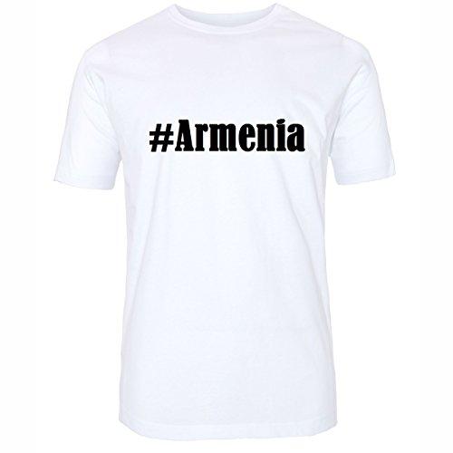 T-Shirt #Armenia Hashtag Raute für Damen Herren und Kinder ... in den Farben Schwarz und Weiss Weiß