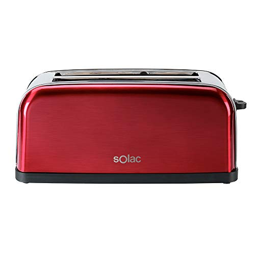 Solac TL5415 Stillo Red Tostadora con Ranuras Largas Multicolor