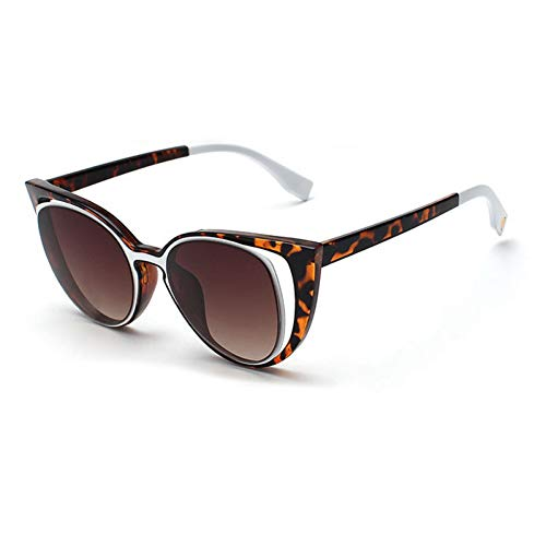 YLNJYJ Mode Cat Eye Sonnenbrille Frauen Markendesigner Retro Spiegel Sonnenbrille Hohe Qualität Vintage Gafas De Sol Mujer