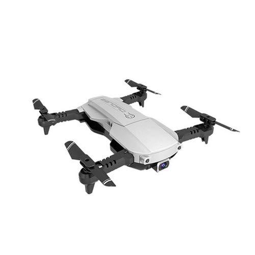 Drone 4K, Drone con Telecomando A Punto Fisso, Trasmissione WiFi in Tempo Reale Videocamera HD Flusso Ottico Hover Rc Elicottero Elicottero con Videocamera,White