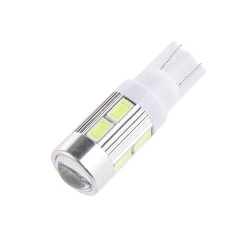T10 5630 10SMD Conduit à Puce Chip RV Dôme Carte LED Ampoules Intérieures 12V Super - Blanc