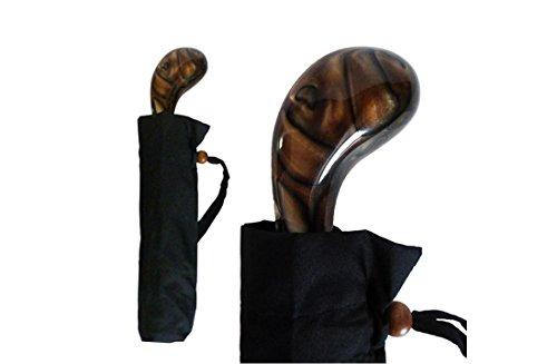 VistaInternational Acryl Drum Griff Regenschirm (Schokolade) -
