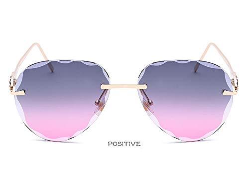 CXYGHXG Fashion-Sonnenbrille, Randlose Brille, Blendfreies HD-Sehen, UV400-Schutz, Outdoor für Männer und Frauen, Fahren, Radfahren, Skifahren, Reiten (Color : F)