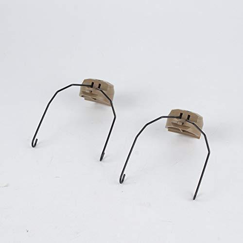 JohnJohnsen 1 Paar militärische Taktische Helm-Adapter Multifunktions-Headset-Halter Schneller OPS Kernsturzhelm-Schienenadapter für Sordin Headset (Sandfarben)
