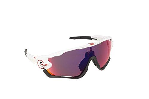 Oakley Unisex-Erwachsene Sonnenbrille Jawbreaker Weiß (Blanco Brillo), 0