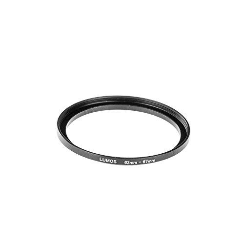 LUMOS 62-67 mm Step up Filteradapter Ring | eloxierter Metall Adapterring von Kamera Objektiv mit 62mm Filtergewinde auf 67mm Zubehör Filter