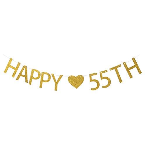 lgirlande Wimpelkette Banner Girlane Girlande Kette mit Happy 90 TH für Geburtstag - 55 ()