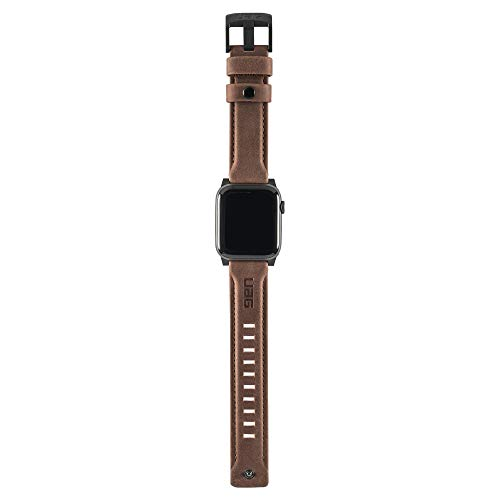 Urban Armor Gear Cuero Correa para Apple Watch (42mm) y Apple Watch (44mm) [Series 4 / Series 3 / Series 2 / Series 1, Correa reemplazable] - Marron