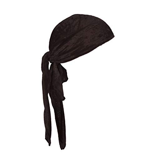 Thetru Piraten-Kopftuch in schwarz | Einheitsgröße Erwachsene | Piraten-Bandana für Freibeuter-Kostüme zu Karneval und Fasching (Für Erwachsenen Pirat Kostüm Zubehör)