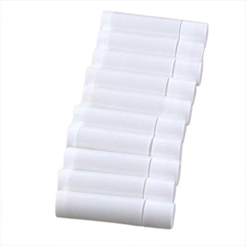 SODIAL(R) 100 Blanc Vide Baume a levres Tubes Conteneurs