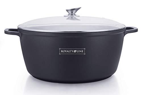 Royalty line - rl-bs40m - pentola antiaderente con coperchio in vetro, 19.3 litri, 40 cm