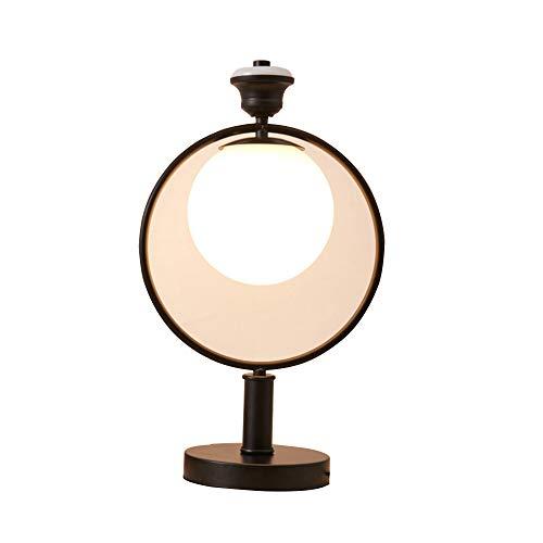 QEQ E27 Hierro Retro Tabla Arte de la lámpara Bola de Cristal ...