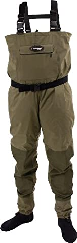 Frogg Toggs Hellbender Stout Stockingfoot Wader, X-Large, New Sage