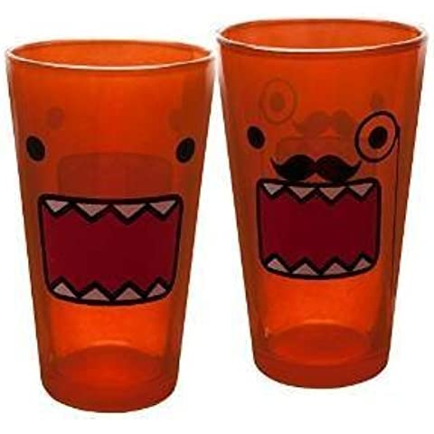 Domo - Mustache & Face Two Pack Pint Glass Set by Classic Imports