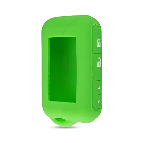 SUNQQB KEYYOU Silikonhülle Schlüsselabdeckung Für Starline E90 E63 E91 E61 E95 E66 E60 LCD Zweiwegautowarnungsfernfall Keychain Sender,Green - E60 Lcd