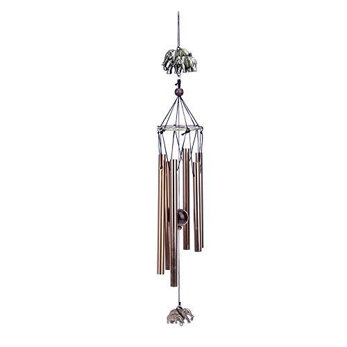 arden Yard Home Living Windspiele 6 Rohre Hause hängen dekorative Glocke Geschenk für Hauptfenster Dekor ()
