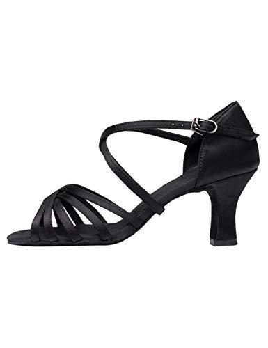 besbomig Damen Latin Dance Schuhe hohe Absätze Ballsaal Performance Sandalen - Gemütlich Weiche Sohle Standard Samba Chacha Salsa Tango Partei Tanzschuhe (- Hohe Partei)