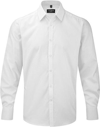 Camicia uomo maniche lunghe Herringbone - 125/130 g/m² - Uomo White