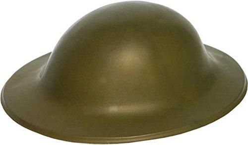 Per adulti e ragazzi Unisex, 1940s Fancy Dress-Elmetto militare in plastica, motivo: Tommy