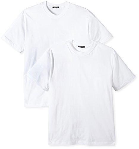 Schiesser Herren 2er Pack American T-Shirt Rundhals Single Jersey - Weiß: Größe: 9 (Gr. XXXL) -