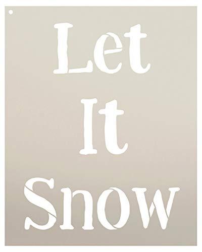 Studio R 12 Let It Snow - Pochoir | réutilisable modèle de Mylar | Utiliser pour Peindre Les Panneaux en Bois - 16' x 20'