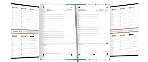 Oxford Active colore: Nero 352 pagine Agenda scolastica giornaliera 2019-2020 1 giorno 12 x 18
