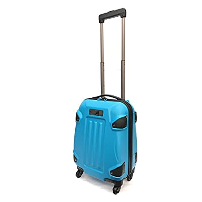 """Super Lightweight ABS Hard Shell Armour-Style Durable Hold Luggage Suitcase Travel Case With 4 Wheels in Large(28""""), Medium(24""""), Cabin Approved For EasyJet & BA (18"""") (18"""" EasyJet, Turquoise) - suitcases"""