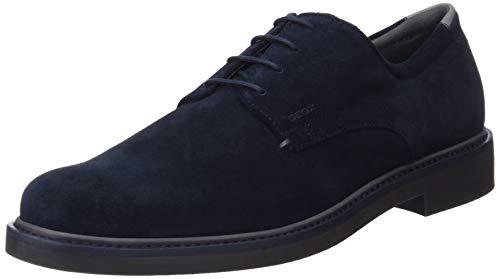 Geox U Silmor B, Zapatos Cordones Derby Hombre, Navy