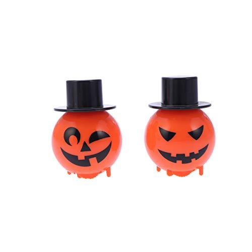 Kostüm Treat Trick Babys Or - TOYANDONA 6 stücke Halloween Wickeln Spielzeug springenden Hut kürbis blendend Trick or Treat Spielzeug für Halloween gastgeschenke (zufälliges Muster)