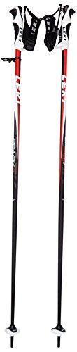 LEKI Erwachsene Skistock Spark S, Base Color: Black/Design: Anthracite-White-Red, 110 cm