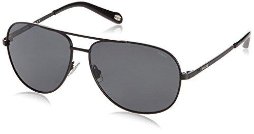 Fossil fos 3010/p/s occhiali da sole, unisex, aviatore con montatura, black
