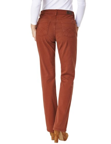 Pioneer Damen Straight Leg Hose BETTY Braun (rust 39)