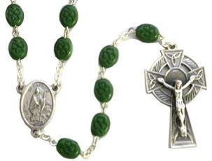 Saint Patrick Rosary Beads. Irish Rosary Beads.St Patrick