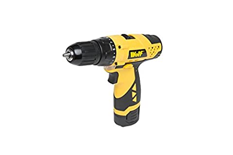Wolf 12v Li-ion Cordless Drill Driver includes Battery & 1 Hour Fast charger - Forward & Reverse Control, 17 Torque Settings, 2 Speed Gearbox