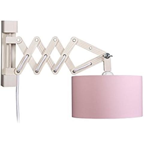 Waldi Leuchten lampada da parete forbici, interno Oro con interruttore, rosa WAL-82618, 0 - Oro Forbici