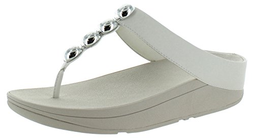 FitFlop™ Rola Womens Punta Sandali Post Urban White