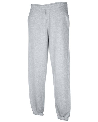 Fruit-of-the-Loom-Herren-Freizeithose-mit-elastischem-Beinabschluss-64-026-0-Heather-Grey-XXL