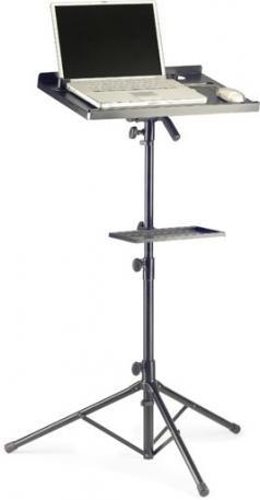 Stagg COS 10 BK Support pour Ordinateur portable/Instrument de musique Noir